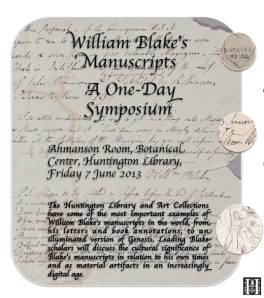 Blake's Manuscripts Symposium