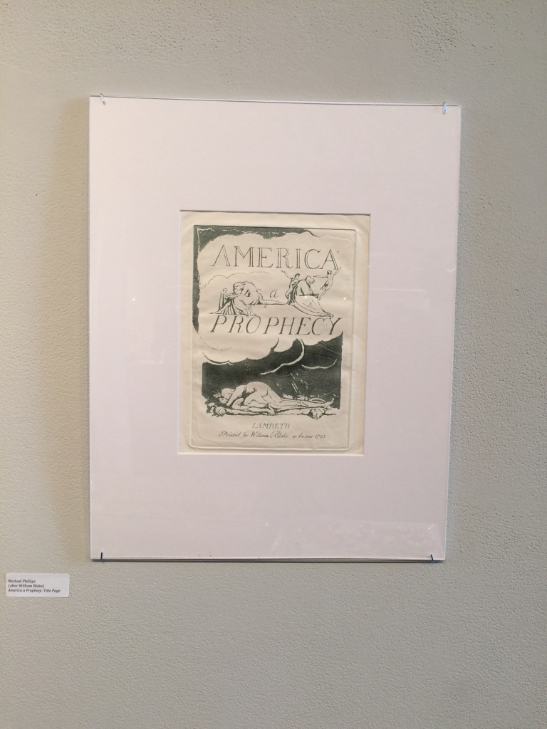 Michael Phillips's reproduction of the Title page of America a Prophecy