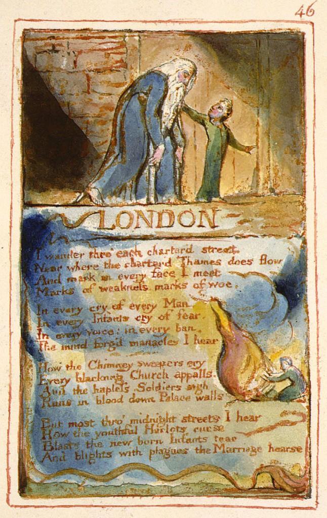 "William Blake's original, ""London,"" copy AA."