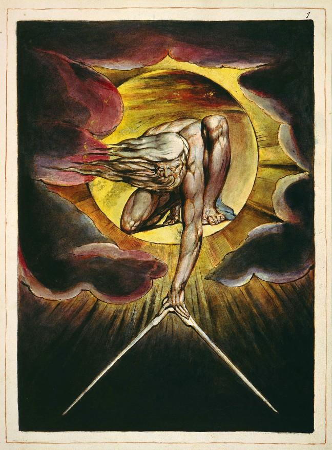 William Blake original, Europe a Prophecy, Frontispiece, Copy K
