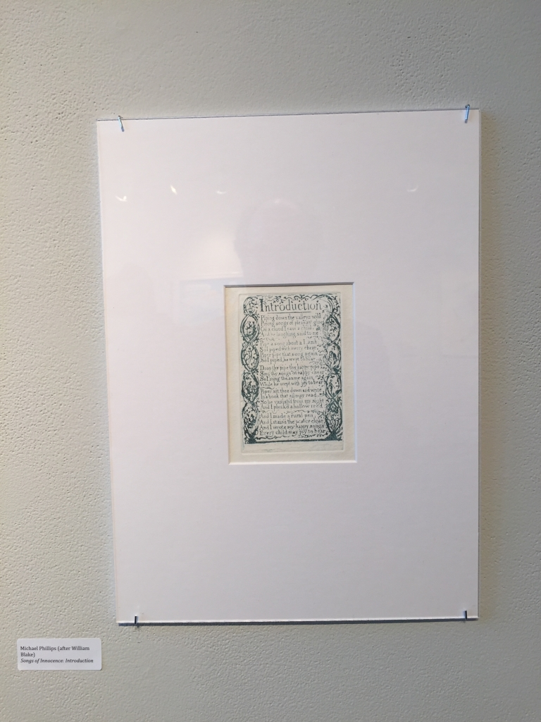 """Michael Phillips's reproduction of """"Introduction,"""" Songs of Innocence."""