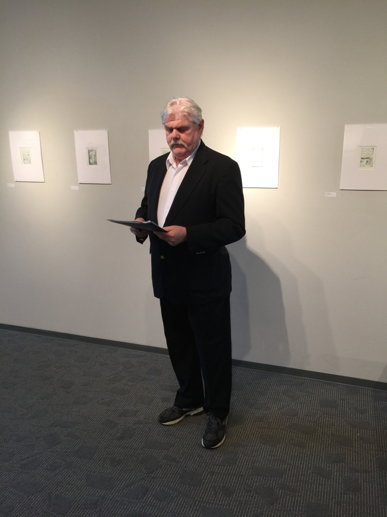 Robert McFate at the Blake in the Heartland exhibit reception.