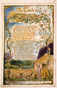"William Blake, ""The Lamb,"" copy AA."