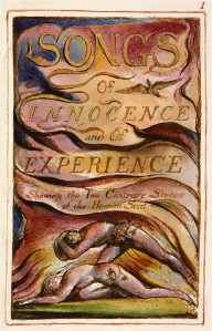 William Blake's title page for the Songs of Innocence and of Experience.