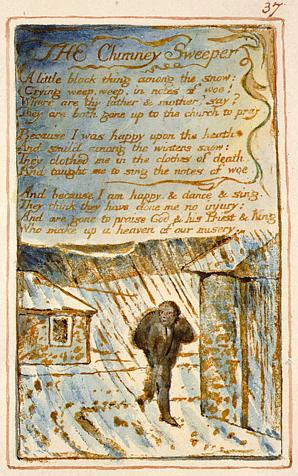 "William Blake's original, ""The Chimney Sweeper"" (Experience) from The Songs of Innocence and of Experience, copy AA."