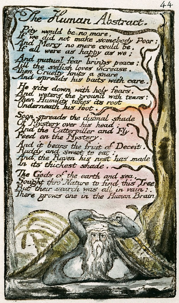 "William Blake's original, ""The Human Abstract,"" Copy L."