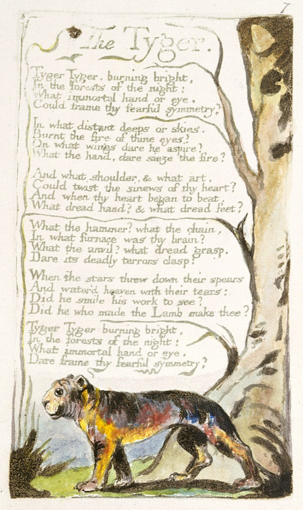"William Blake's original, ""The Tyger,"" Copy B"