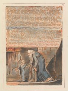 William Blake's original, Jerusalem plate 84, Copy E.