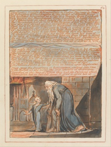 William Blake's original, Jerusalem plate 84, Copy E.