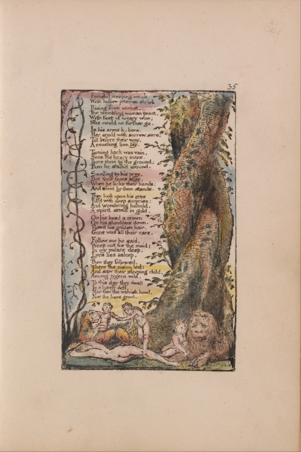 "William Blake's original, ""The Little Girl Found."""
