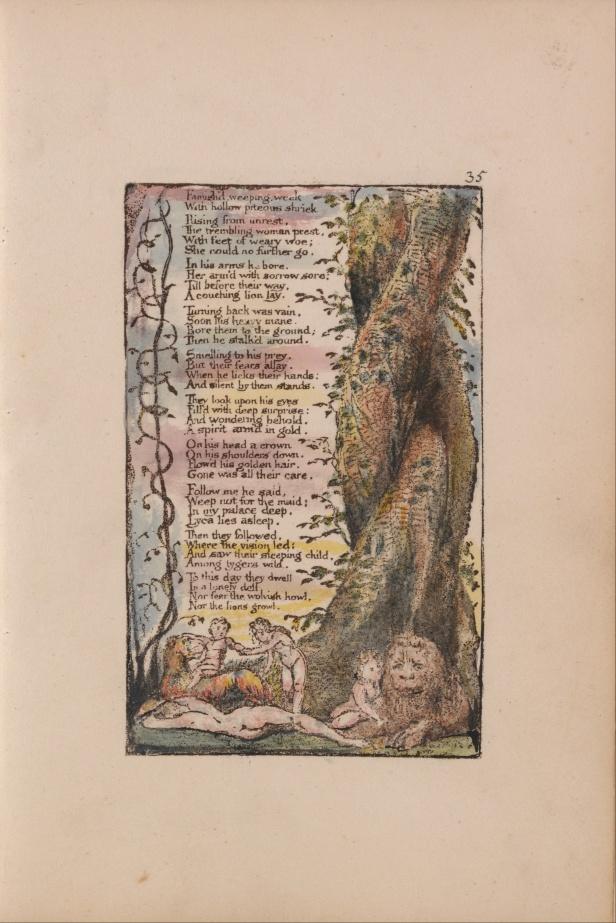 """William Blake's original, """"The Little Girl Found."""""""